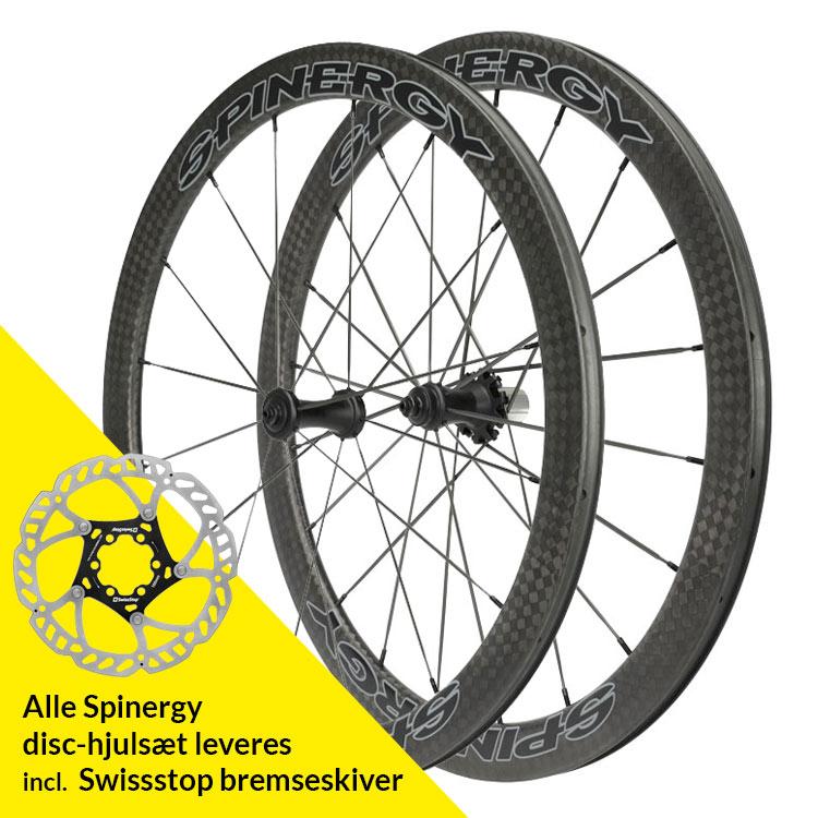 Spinergy FCC 4.7 DB Full Carbon PBO Bladed hjulsæt | Wheelset
