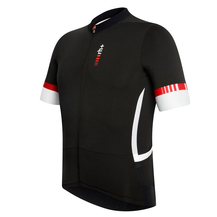rh+ Race FZ cykeltrøje sort/hvid | Trøjer