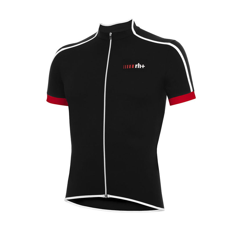 rh+ Prime cykeltrøje sort-hvid-rød | Trøjer