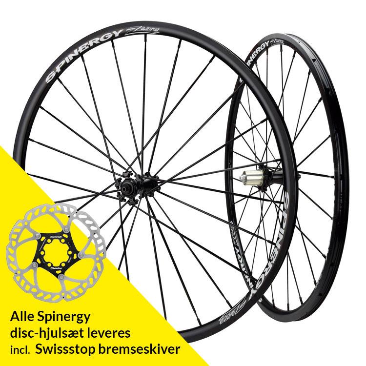 Spinergy Z Lite Aero Bladed Disc hjulsæt | Wheelset
