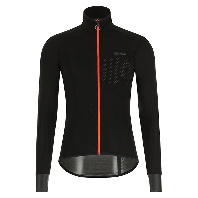 Santini Guard Nimbus Rainproof Jakke Mand Sort