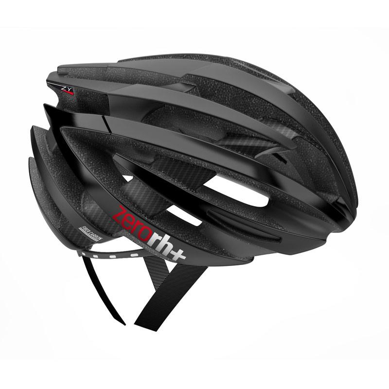 rh+ ZY cykelhjelm Carbonfiber mat sort - blank grå | Helmets