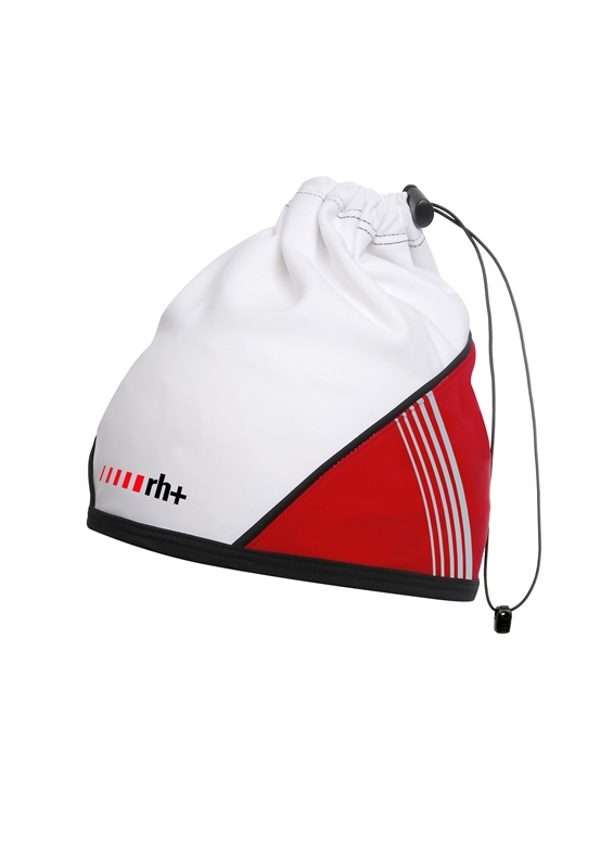 rh+ Dynamic cykelhue/halsedisse hvid/rød | hovedbeklædning