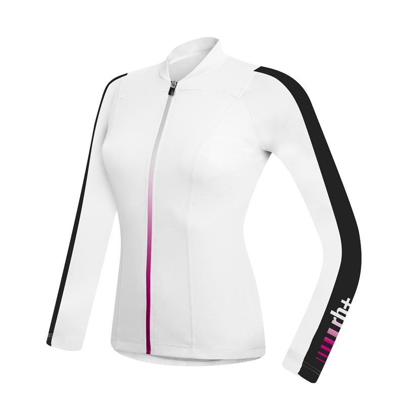 rh+ Spirit W langærmet cykeltrøje hvid/sort XL | Jerseys