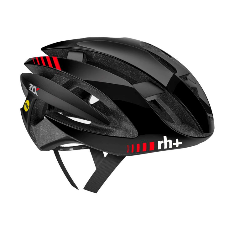 rh+ Z Alpha MIPS aero cykelhjelm shiny black rød | Hjelme