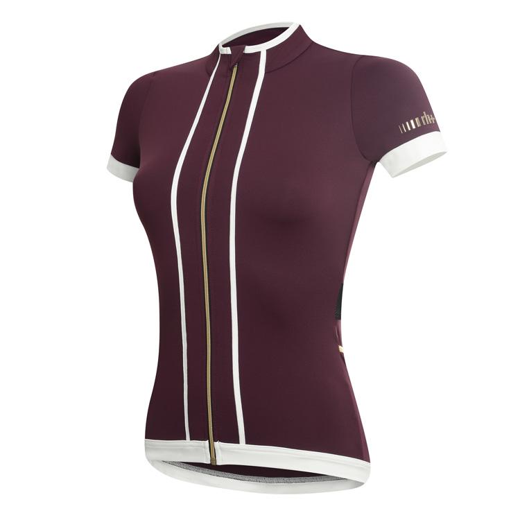 rh+ Sancy W cykeltrøje bordeaux-hvid | Jerseys