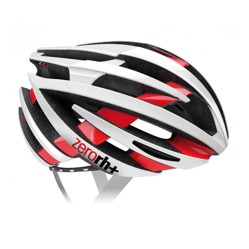 rh+ ZY cykelhjelm blank hvid / blank rød | Hjelme